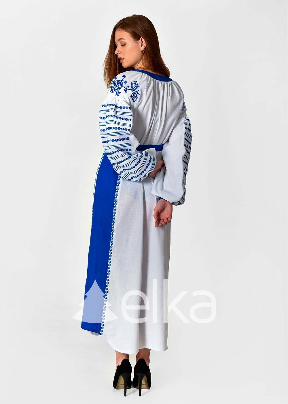 Платье вышиванка Казачка белая