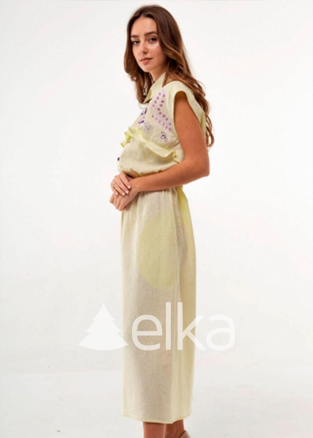 Платье вышиванка Соцветие