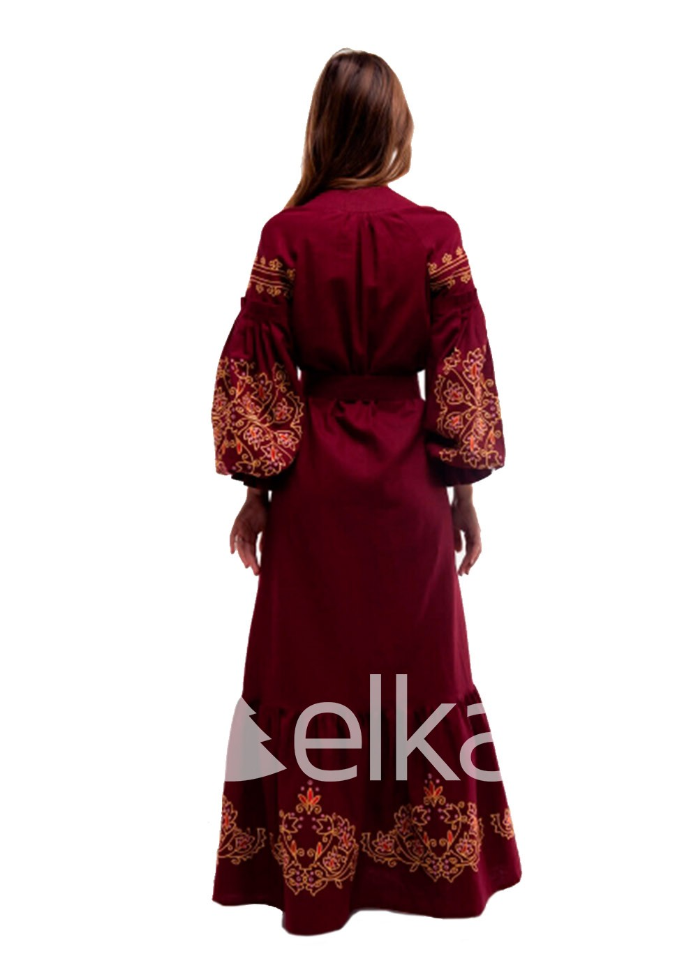 Платье вышиванка Дикая вишня