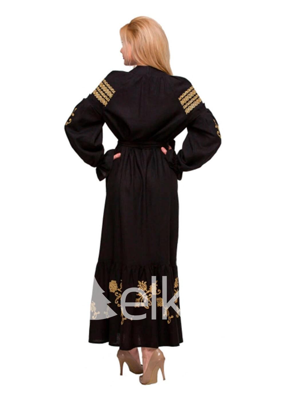 Платье вышиванка Восточный сад