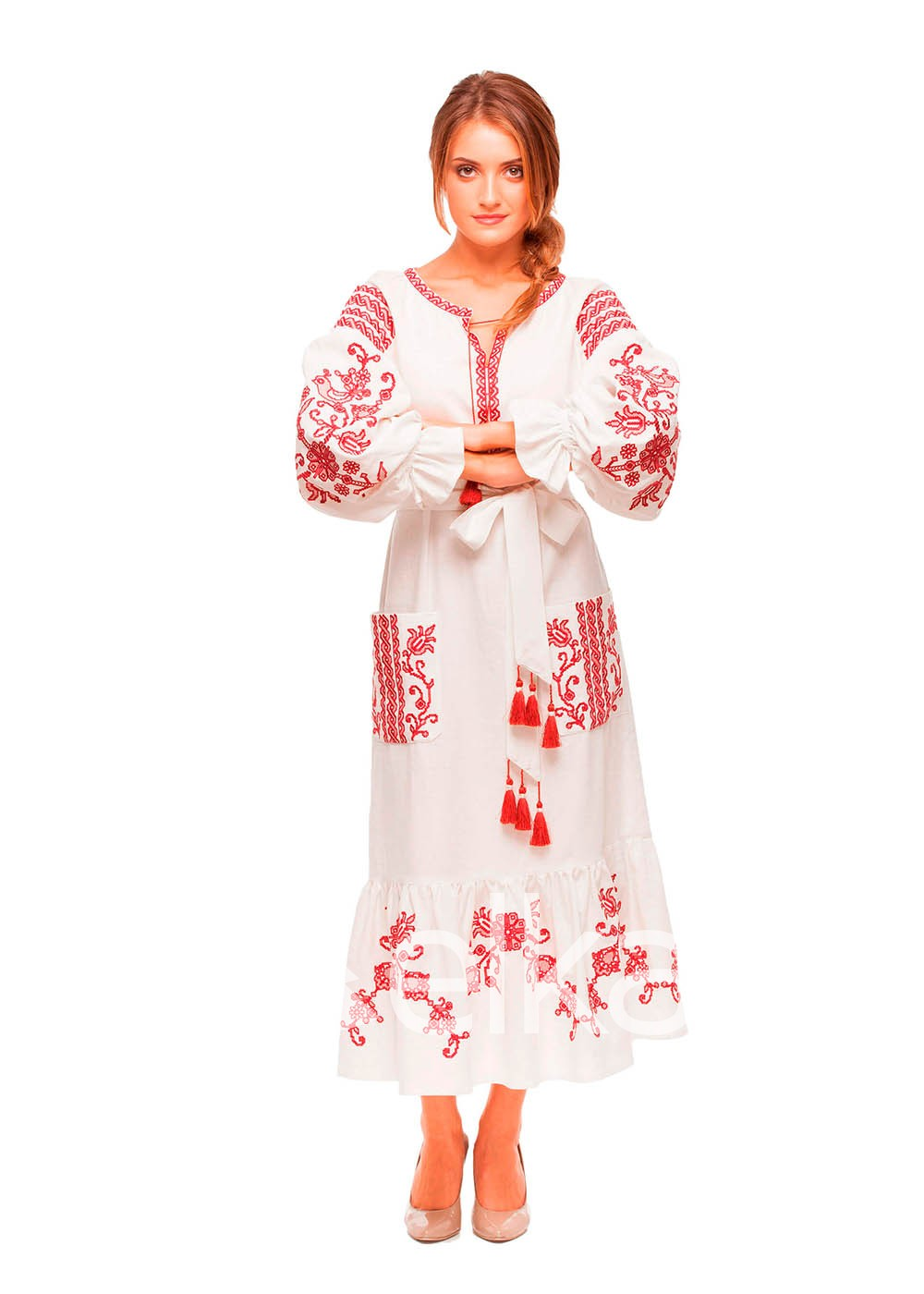 Платье вышиванка Вишневый сад