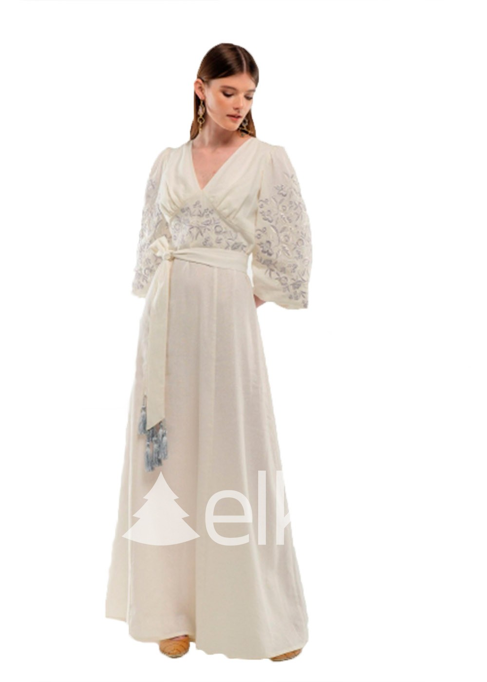 Платье вышиванка Голубка