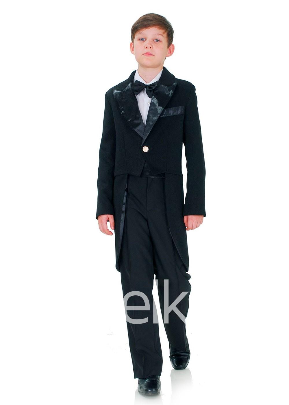 Классический черный костюм фрак