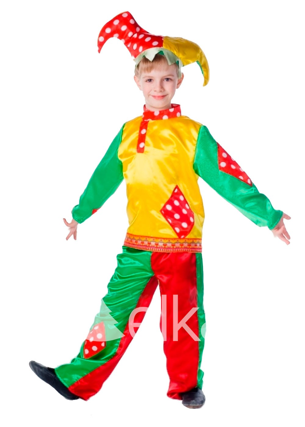 Карнавальный костюм Петрушки клоун