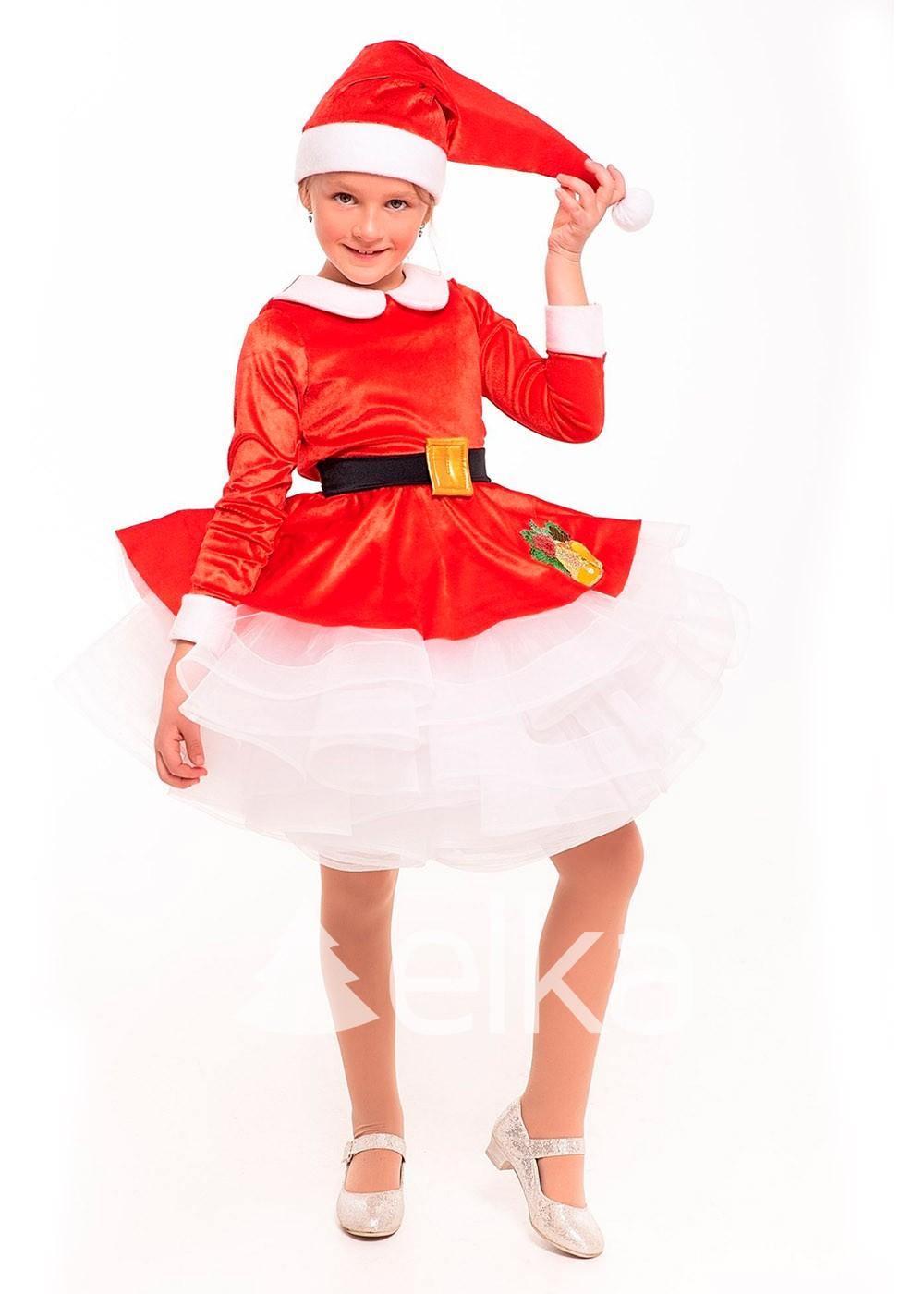 Костюм Санта для девочки