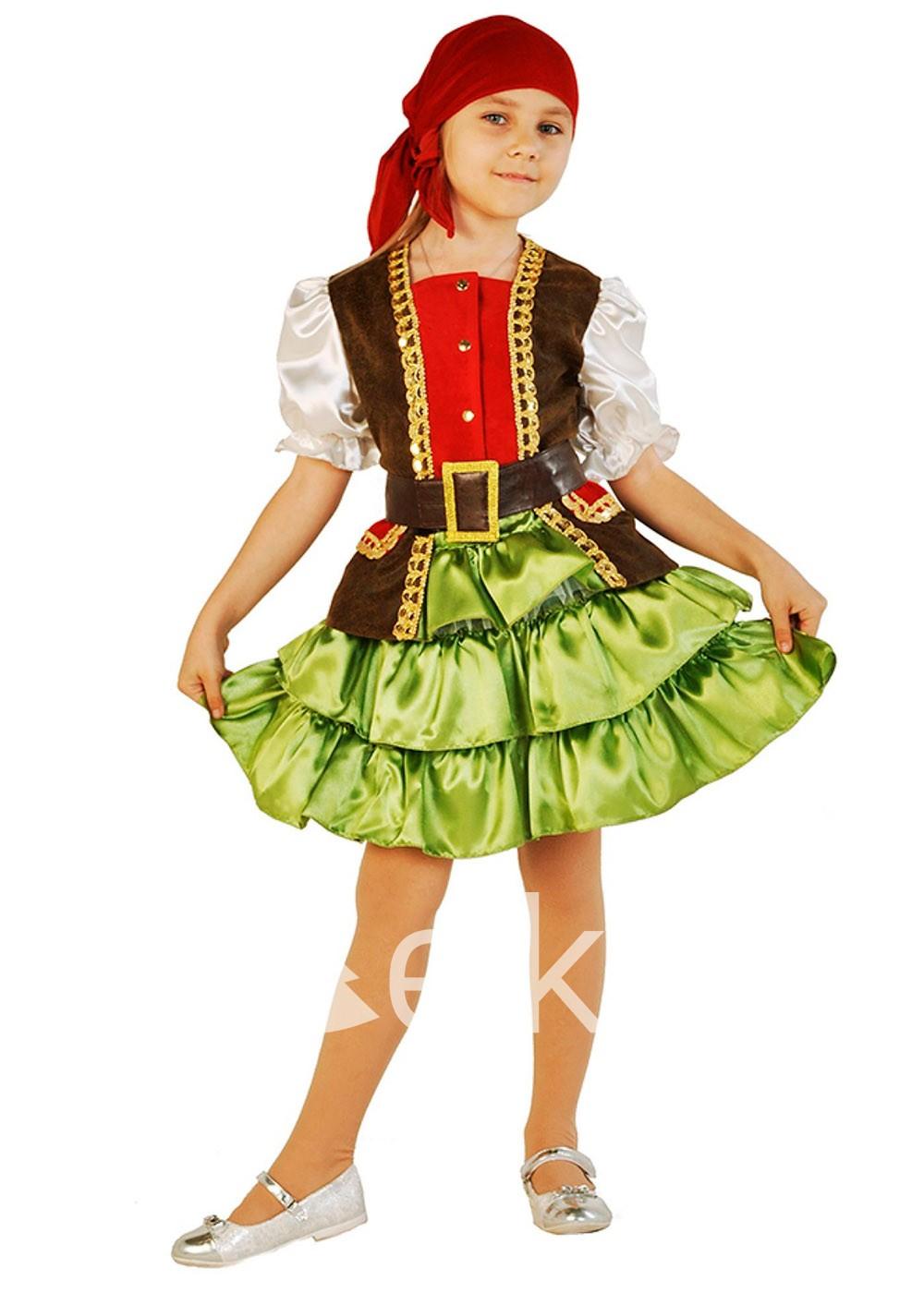 Костюм Разбойницы пиратки для девочки