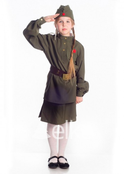 Костюм Военный солдат для девочки