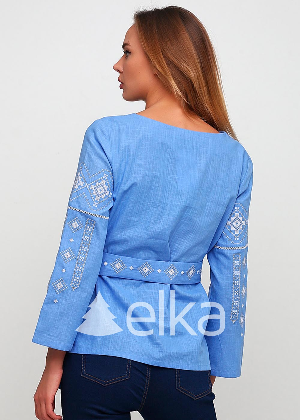 Вышиванка женская Традиция синяя