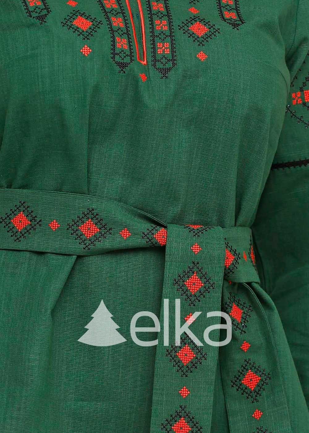 Вышиванка женская Традиция хаки