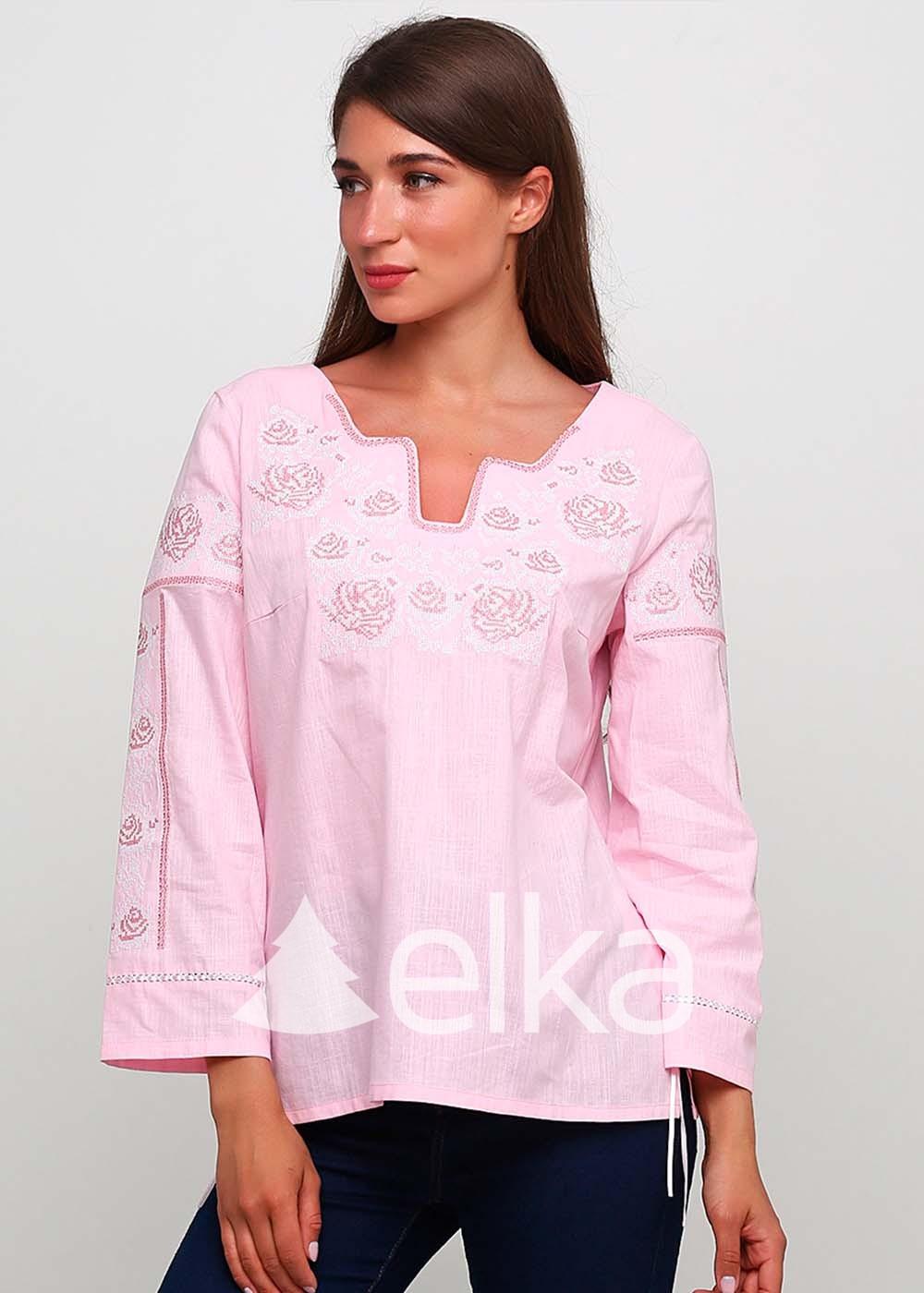 Вышиванка женская нежно-розовая
