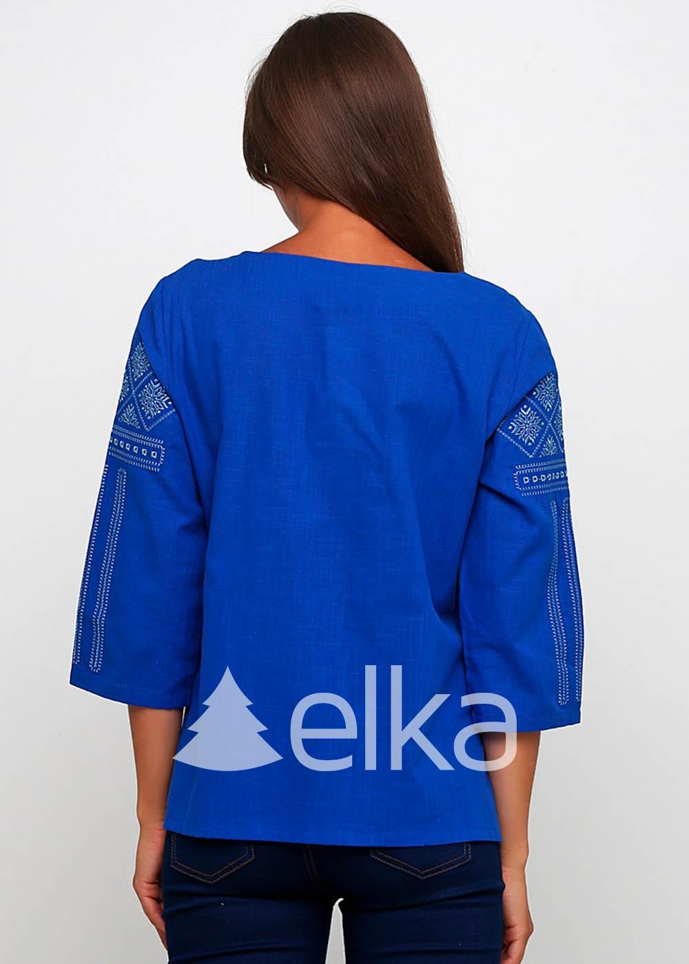 Вышиванка женская Черкасская синяя
