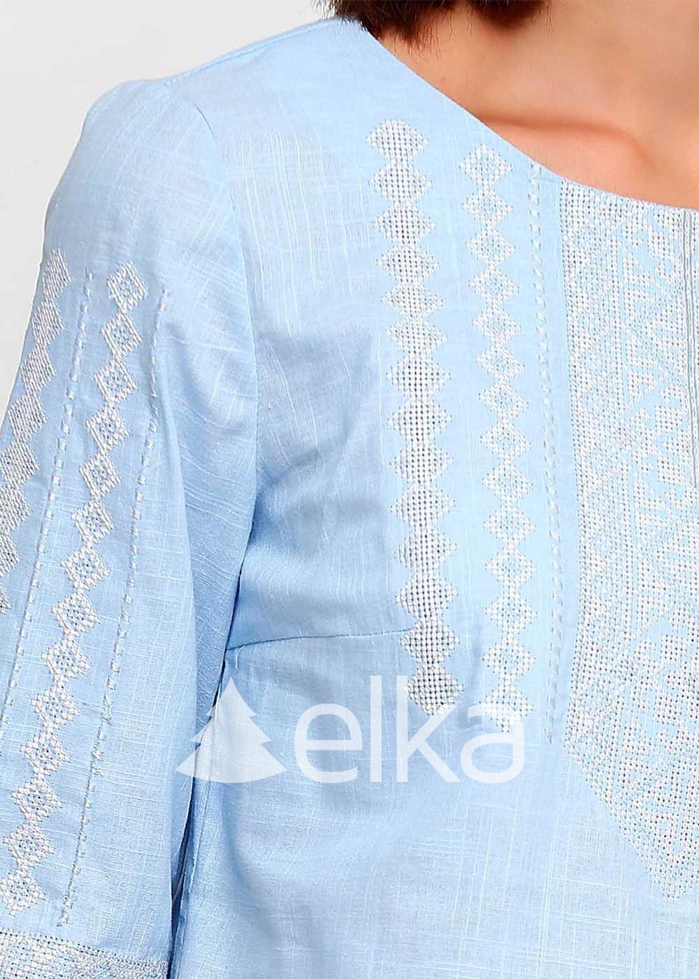 Вышиванка женская Этно голубая