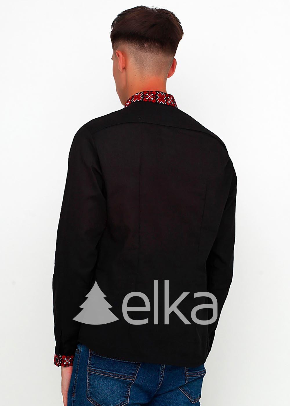 Мужская вышиванка черная Зори