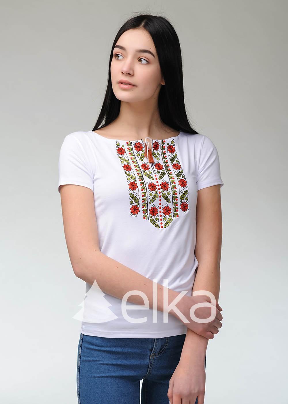 Вышитая футболка Гармония
