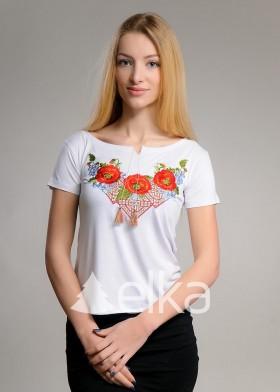 Вышитая футболка Диво