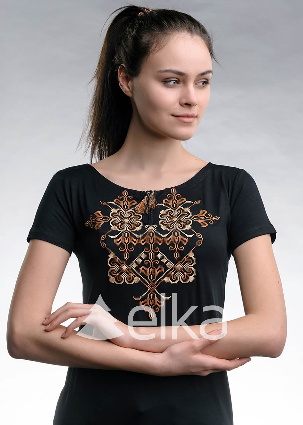 Вышитая футболка Харьковская