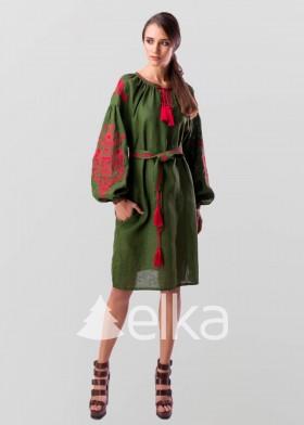 Платье вышиванка Цветущий сад