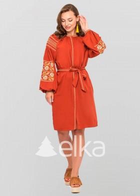 Платье вышиванка Ломаная ветка