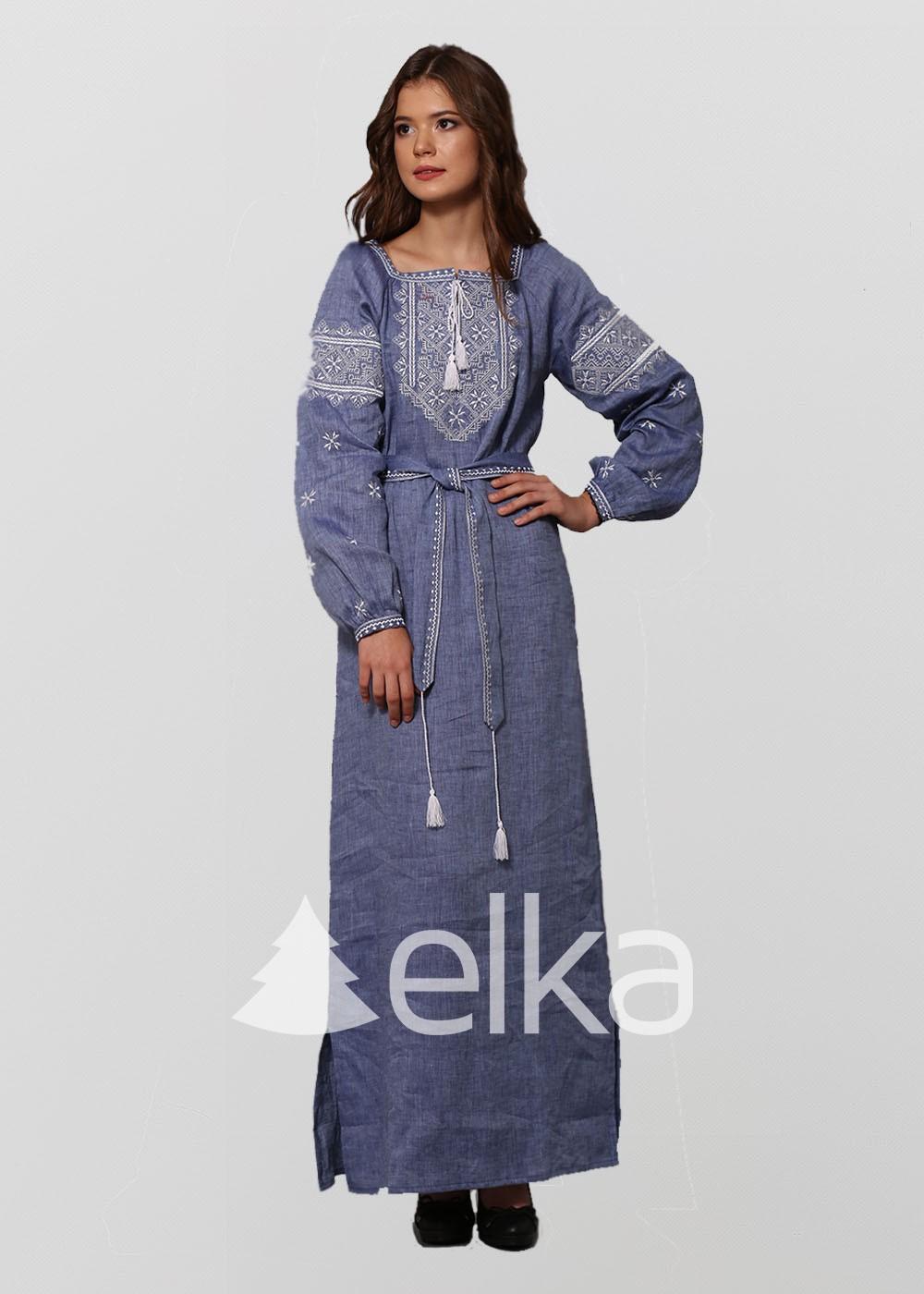 Платье вышиванка Твори мир джинс