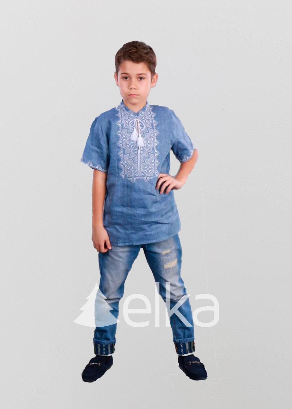 Детская вышиванка для мальчика Зоря