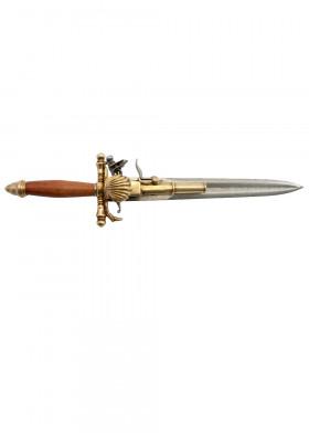 Пистолет - кинжал, Франция XVIII в.