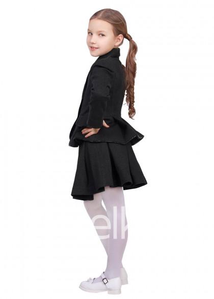 Пиджак темно серый для девочки