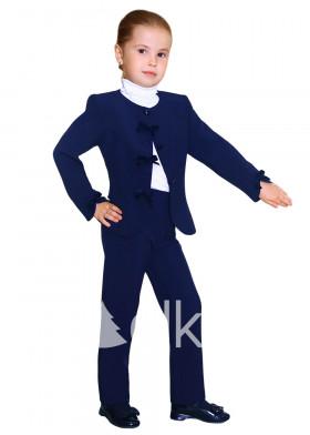 Темно-синий пиджак для девочки