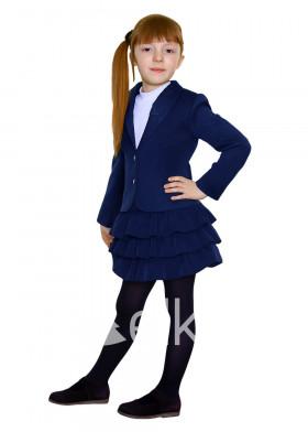 Стильный синий пиджак для девочки