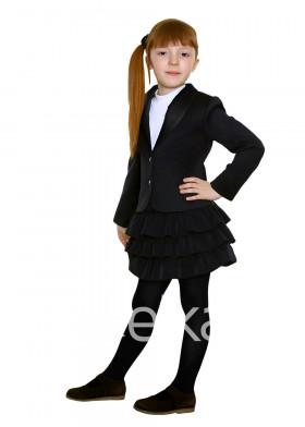Черный пиджак для девочки