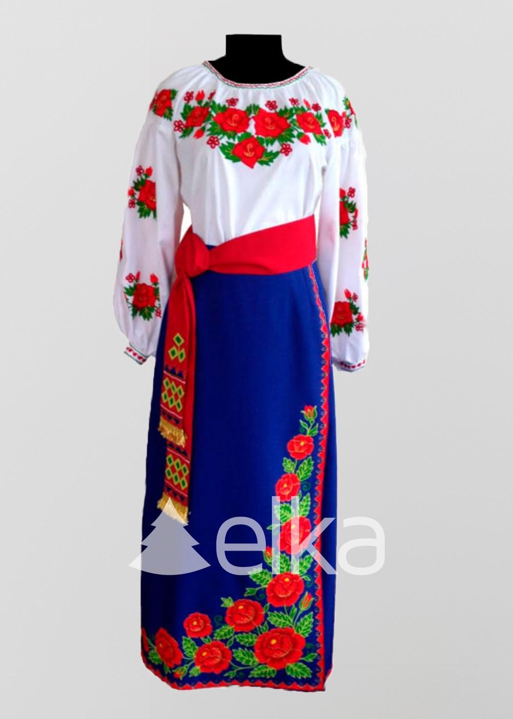 Национальный костюм красная роза