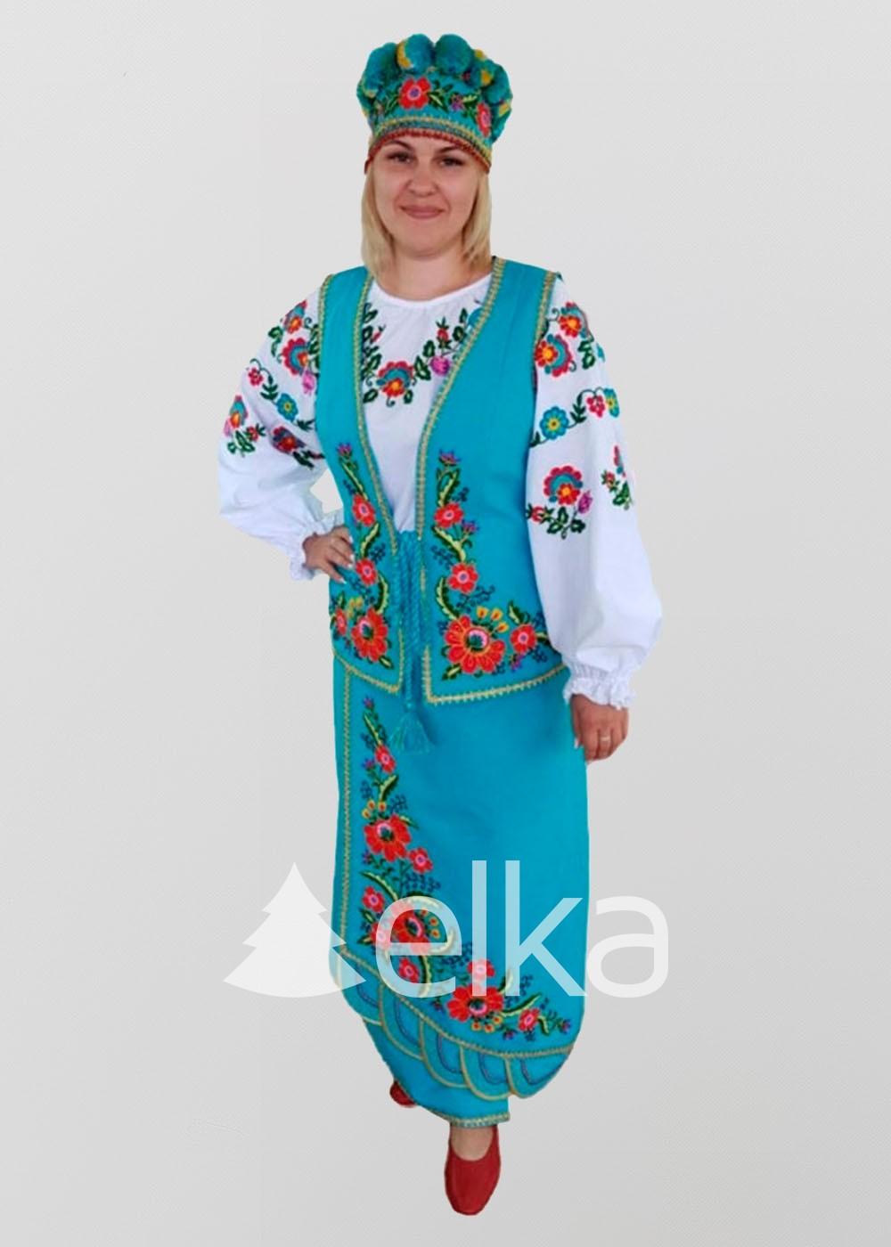 Национальный костюм голубой