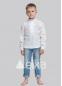 Детская вышиванка для мальчика Троица белая