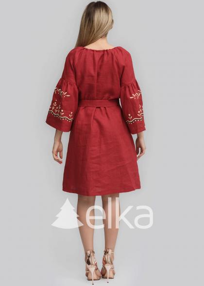 Платье вышиванка Бургундия