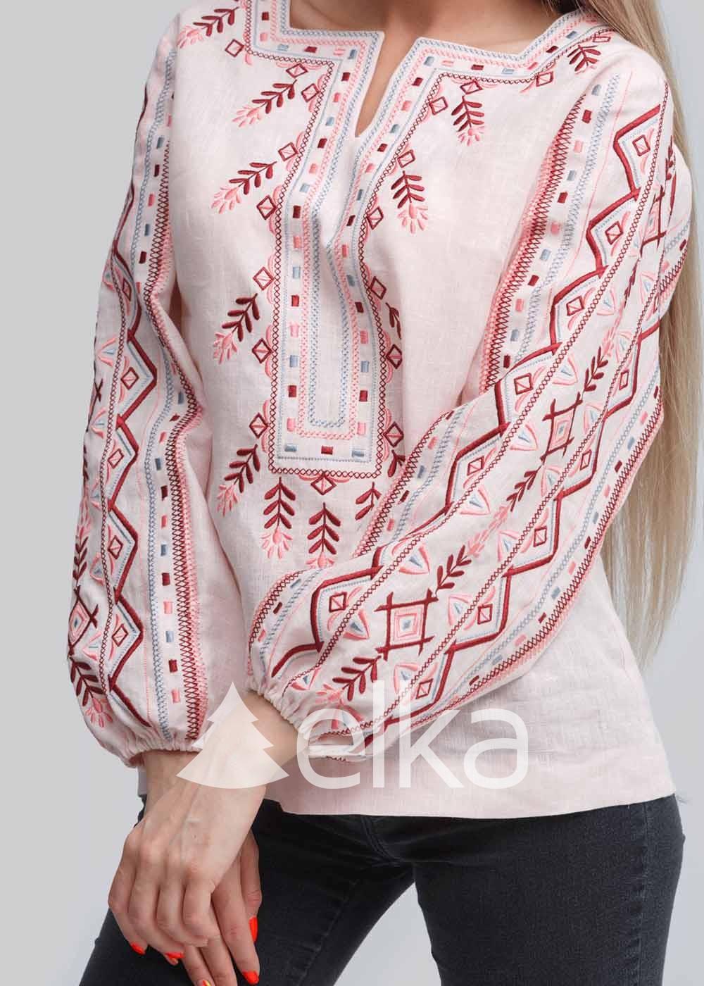 Вышиванка женская розовая