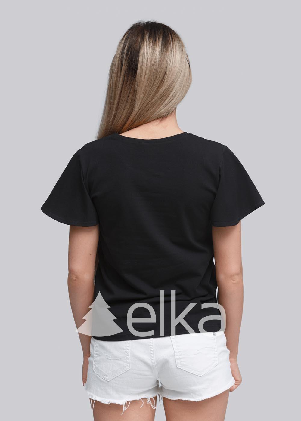 Вышитая женская футболка Цветочный акцент