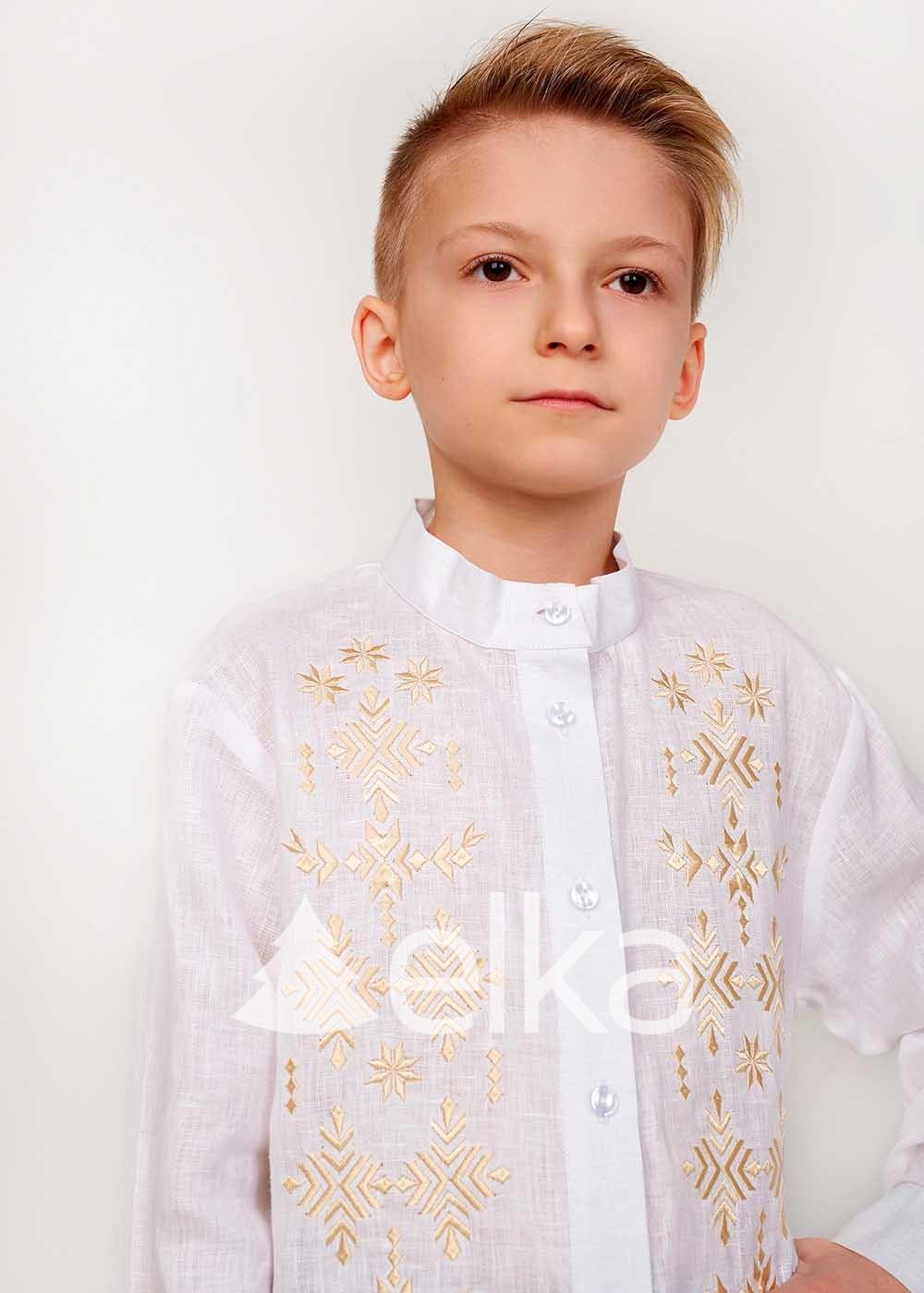 Детская вышиванка для мальчика Россыпь