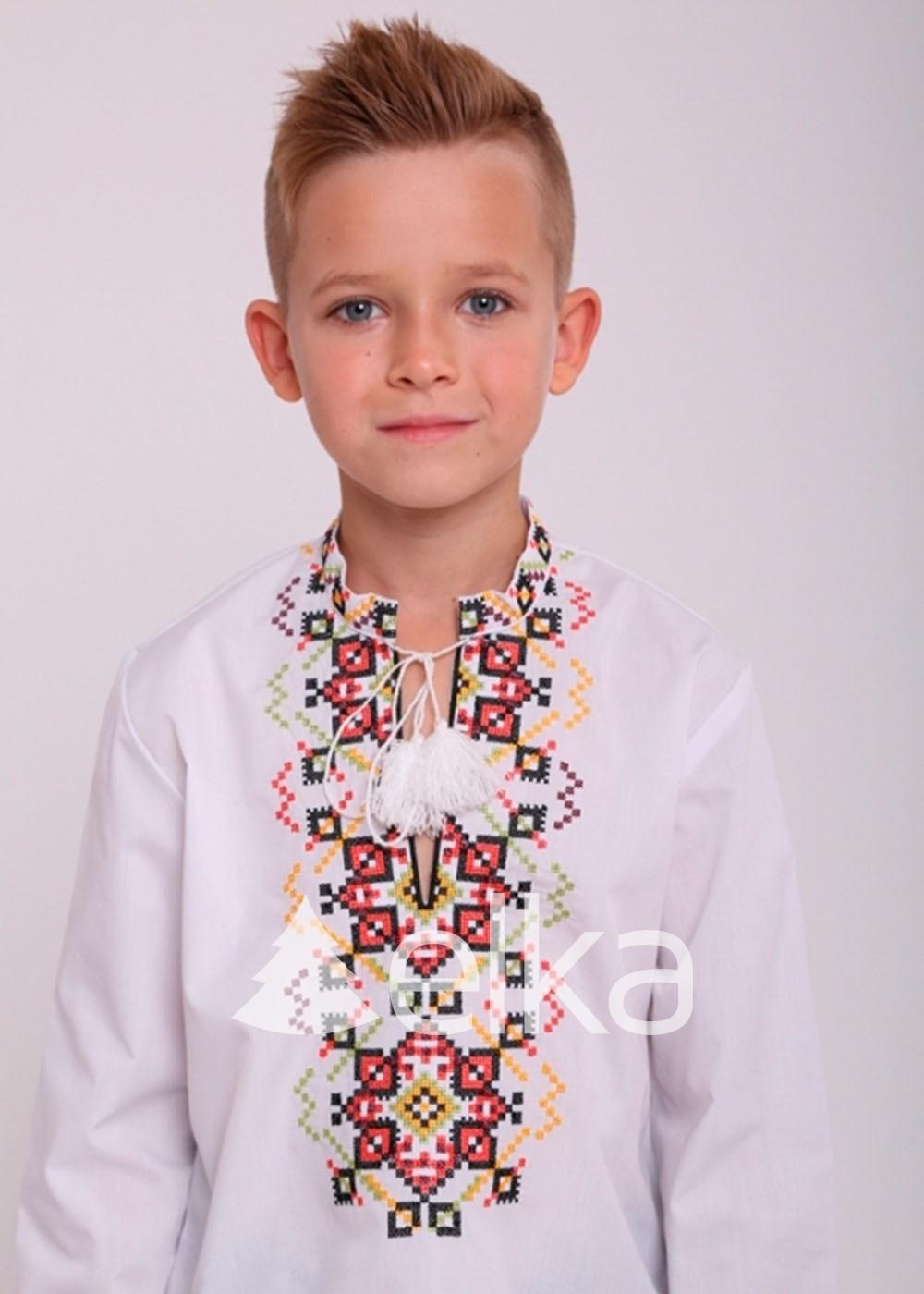 Детская вышиванка с завязками