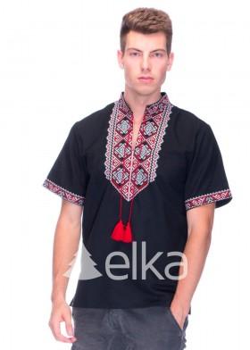 Вышитая рубашка черная