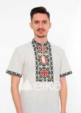 Мужская вышитая рубашка Этно