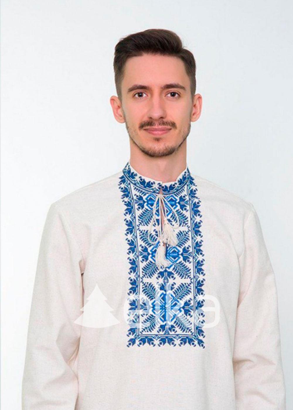 Белая мужская вышиванка