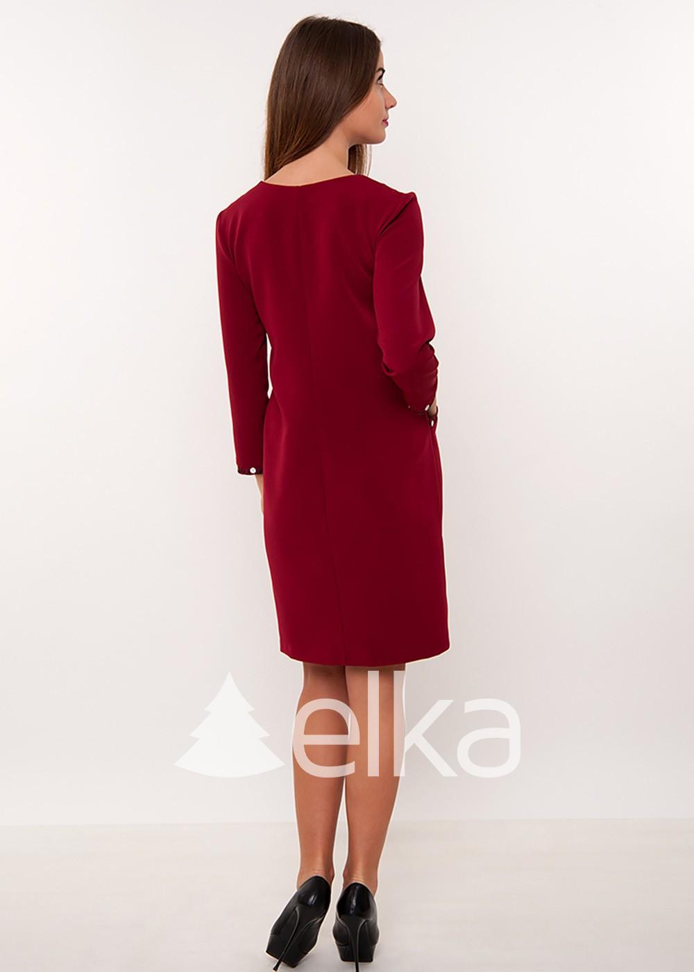 Платье вышиванка бордо