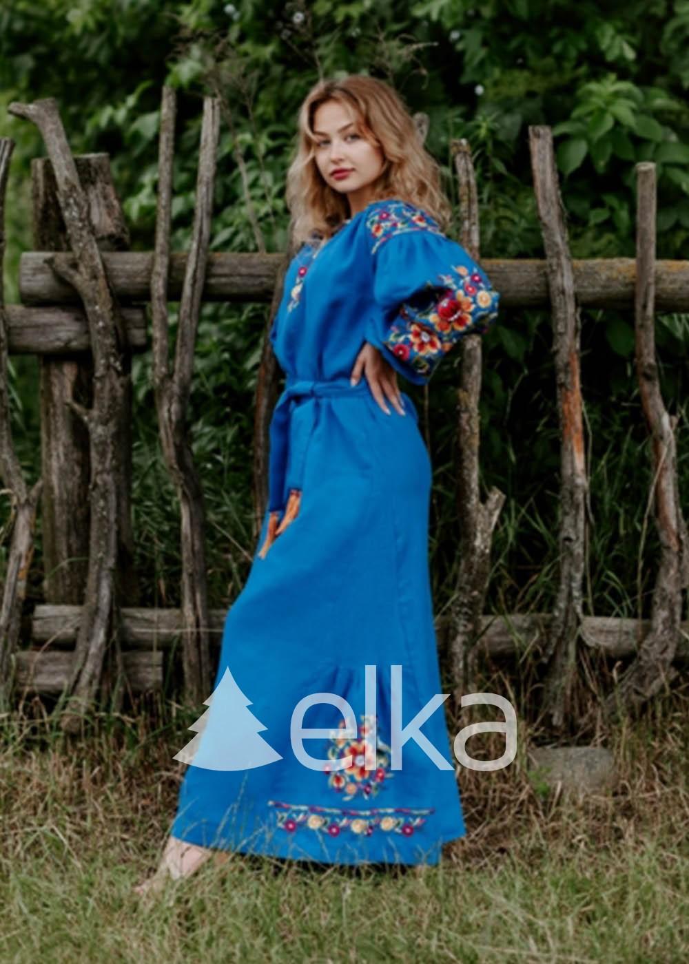 Платье вышиванка Стихия