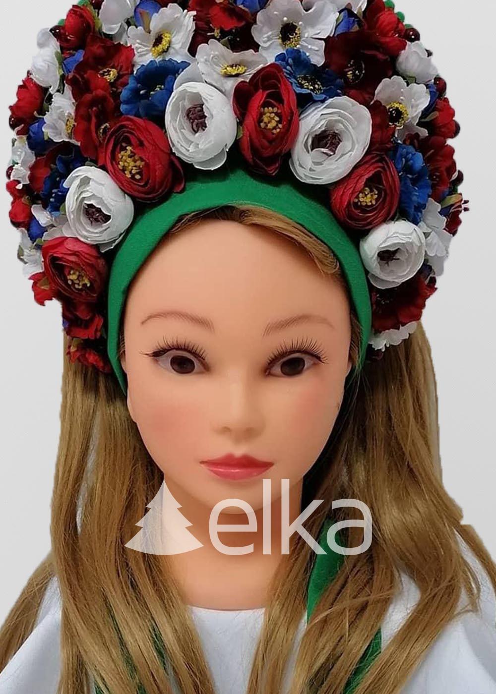 Венок украинский цветы