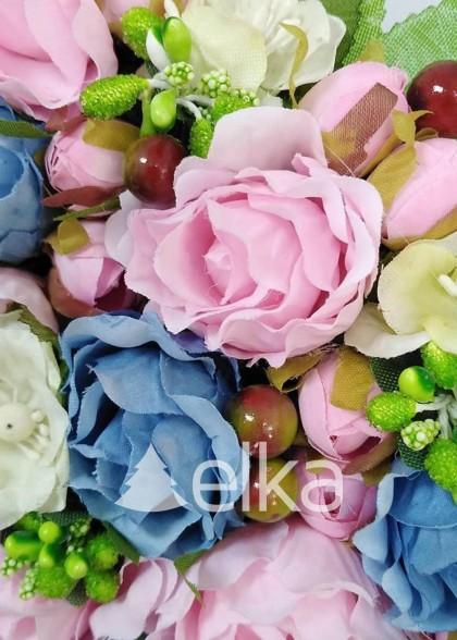 Венок украинский розово-голубой