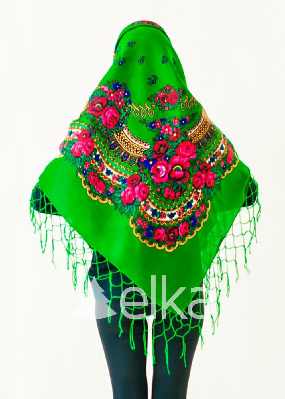 Платок Украинский зеленый