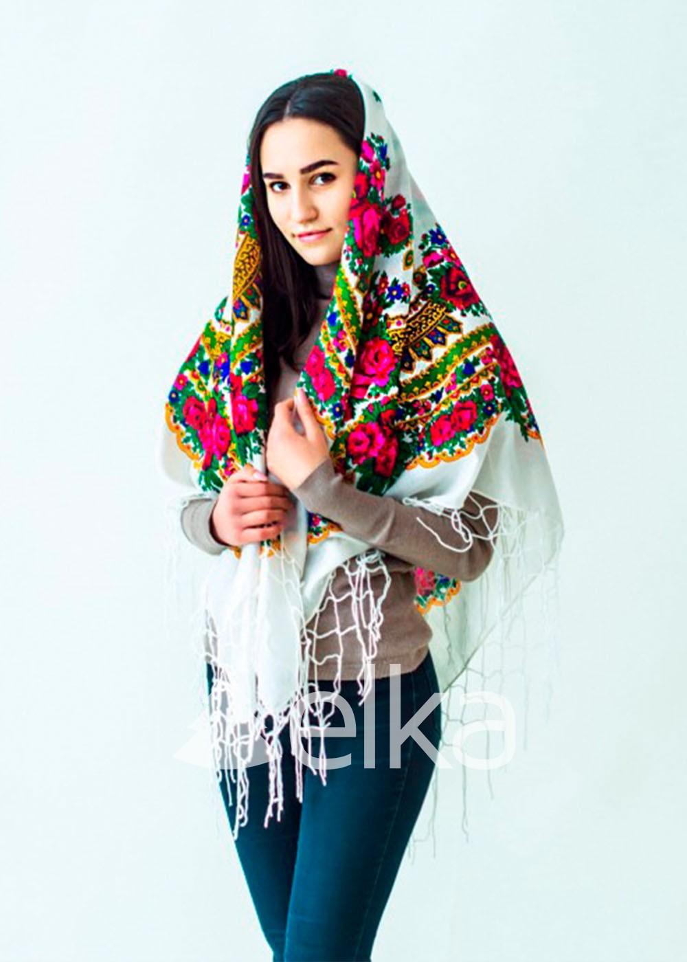 Платок Украинский белый