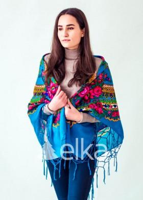 Платок Украинский голубой