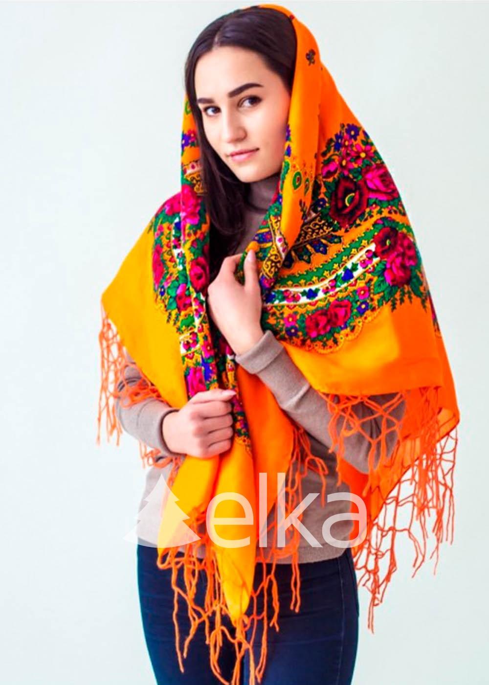 Платок Украинский оранжевый