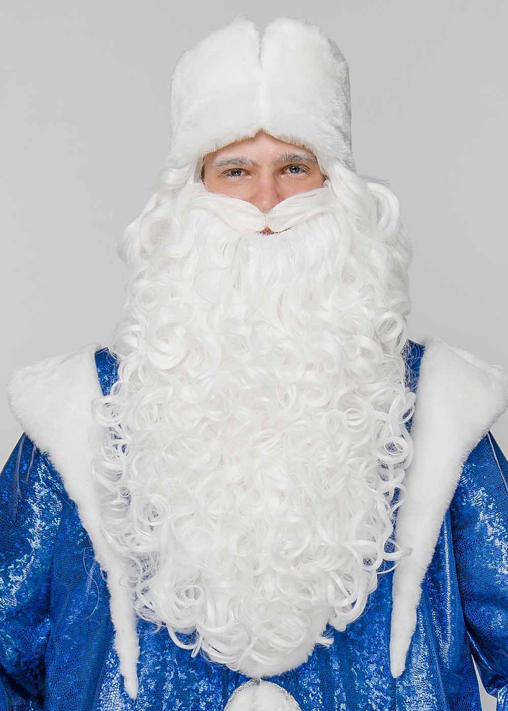 Набор Борода и Парик Деда Мороза люкс