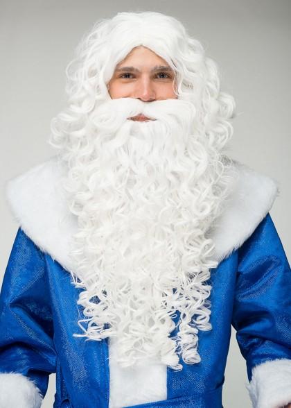 Набор Борода и Парик Деда Мороза элит